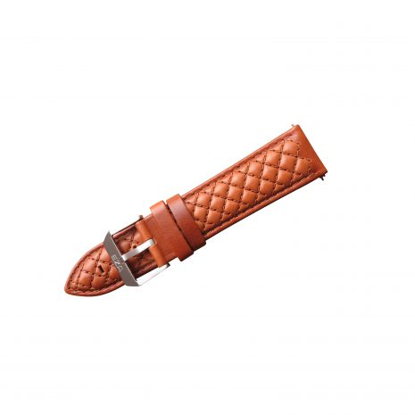 Diamond Quilted Cognac